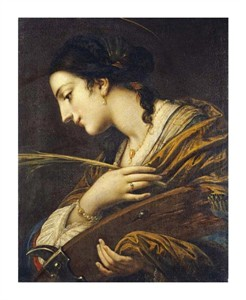 "Baldassare Franceschini Fine Art Open Edition Giclée:""Saint Catherine of Alexandria"""