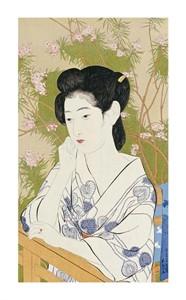 "Hashiguchi Goyo Fine Art Open Edition Giclée:""A Bust Portrait of a Young Woman"""