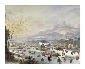 """Robert Griffier Fine Art Open Edition Giclée:""""An Extensive River Landscape"""""""