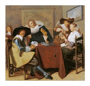 "Dirk Hals Fine Art Open Edition Giclée:""An Elegant Card Party"""