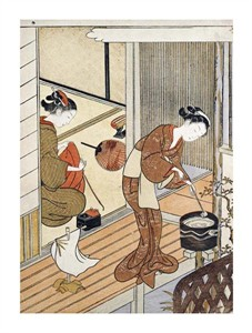 "Suzuki Harunobu Fine Art Open Edition Giclée:""Returning Sails of the Towel Rack"""