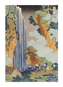 "Hokusai Fine Art Open Edition Giclée:""Ono Waterfall, The Kiso Highway"""