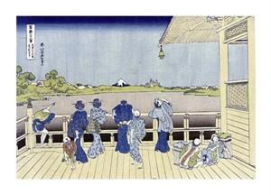 "Hokusai Fine Art Open Edition Giclée:""Sazai Hall of Five-Hundred-Rakan Temple"""