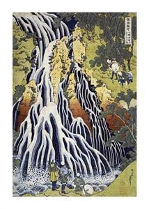 "Hokusai Fine Art Open Edition Giclée:""The Kirifuri Waterfall"""