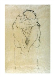 "Gustav Klimt Fine Art Open Edition Giclée:""Seated Woman"""