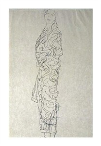 """Gustav Klimt Fine Art Open Edition Giclée:""""Woman in a Kimono"""""""