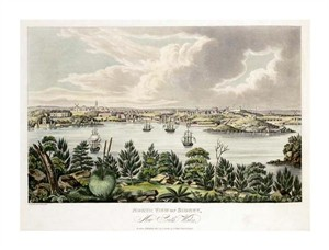 "Joseph Lycett Fine Art Open Edition Giclée:""North View of Sidney, New South Wales"""