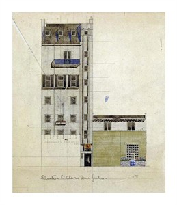 "Charles Rennie Mackintosh Fine Art Open Edition Giclée:""London, Elevation of Proposed Studio, 1920"""