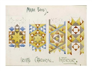 "Charles Rennie Mackintosh Fine Art Open Edition Giclée:""Orvieto Cathedral, Mosaic Bands"""