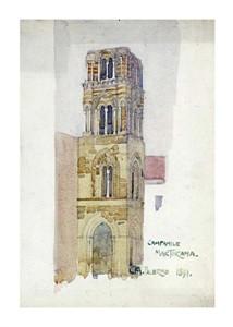 "Charles Rennie Mackintosh Fine Art Open Edition Giclée:""Palermo, Campanile Martorana"""