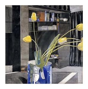 "Charles Rennie Mackintosh Fine Art Open Edition Giclée:""Yellow Tulips"""