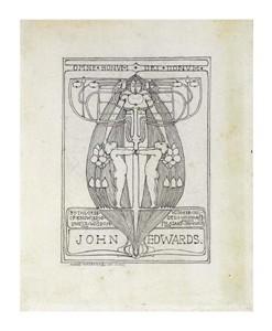 "Margaret Macdonald Mackintosh Fine Art Open Edition Giclée:""Design for a Bookplate, 1896"""
