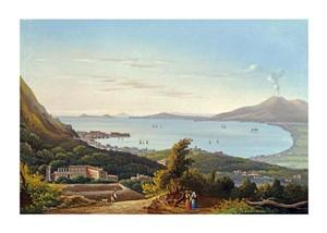 "Neapolitan School Fine Art Open Edition Giclée:""The Blue Grotto at Capri"""