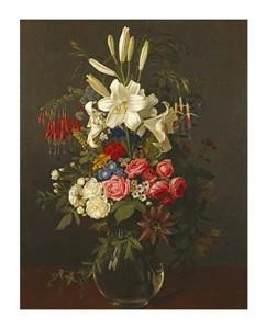 "Otto Diderich Ottesen Fine Art Open Edition Giclée:""Lilies, Roses, Passion Flowers"""