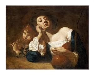 "Giovanni Battista Piazzetta Fine Art Open Edition Giclée:""A Shepherdess with a Gourd"""