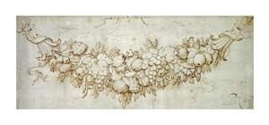 "Peter Paul Reubens Fine Art Open Edition Giclée:""A Swag of Harvest Fruit"""