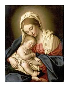 "Giovanni Battista Salvi Fine Art Open Edition Giclée:""The Madonna and Child"""
