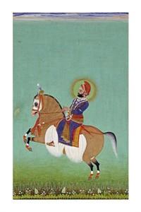 "Shiva Fine Art Open Edition Giclée:""Equestrian Portrait of Maharana Sarup Singh"""