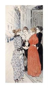"Theophile Steinlen Fine Art Open Edition Giclée:""Women Conversing in the Street"""