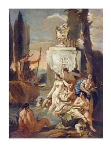 "Giovanni Battista Tiepolo Fine Art Open Edition Giclée:""Diana and Acteon"""