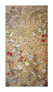 "Jiang Tingxi Fine Art Open Edition Giclée:""One Hundred Flowers"""