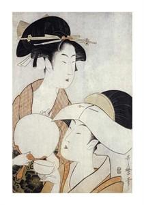 "Kitagawa Utamaro Fine Art Open Edition Giclée:""Bust Portrait of Two Women"""