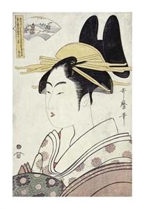 "Kitagawa Utamaro Fine Art Open Edition Giclée:""Courtesan Representing the Hagi"""