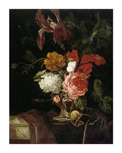 """Willem Van Aelst Fine Art Open Edition Giclée:""""A Rose, an Iris, Lilac"""""""