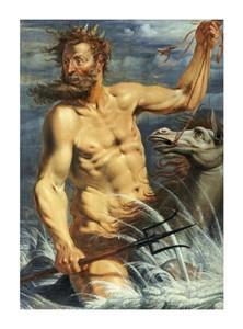 """Werner Jacobsz Van Den Valckert Fine Art Open Edition Giclée:""""Neptune on a Horse"""""""