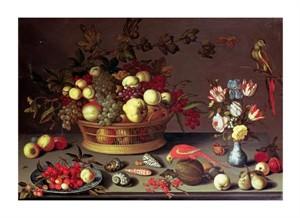 "Balthasar Van Der Ast Fine Art Open Edition Giclée:""A Basket of Grapes and Other Fruit"""