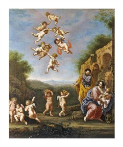 "Adriaen Van Nieulandt Fine Art Open Edition Giclée:""The Rest on the Flight into Egypt"""