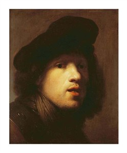 "Rembrandt Van Rijn Fine Art Open Edition Giclée:""Portrait of the Artist"""