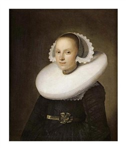 "Johannes Cornelisz Verspronck Fine Art Open Edition Giclée:""Portrait of a Young Lady"""