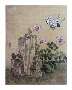 "Jing Yi Fine Art Open Edition Giclée:""Silk Leaf From an Album of Flower and Bird Paintings"""
