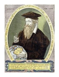 "Bernardus Busius Fine Art Open Edition Giclée:""Gerard Mercator"""