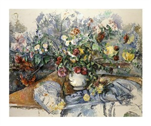 "Paul Cezanne Fine Art Open Edition Giclée:""A Large Bouquet of Flowers"""