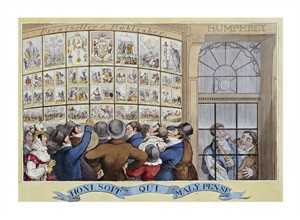 "George Cruikshank Fine Art Open Edition Giclée:""The Attorney-Generals Charges Against the Late Queen"""