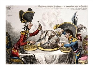 "James Gillray Fine Art Open Edition Giclée:""The Plum Pudding in Danger"""
