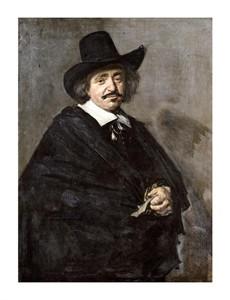 "Frans Hals Fine Art Open Edition Giclée:""Portrait of a Gentleman with Hat"""