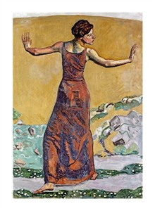 "Ferdinand Hodler Fine Art Open Edition Giclée:""Joyous Woman"""