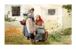 """Winslow Homer Fine Art Open Edition Giclée:""""Picking Flowers"""""""