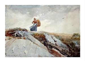"""Winslow Homer Fine Art Open Edition Giclée:""""Down the Cliff"""""""
