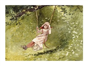 "Winslow Homer Fine Art Open Edition Giclée:""Girl on a Swing"""