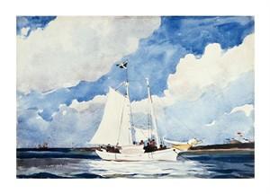 """Winslow Homer Fine Art Open Edition Giclée:""""Fishing Schooner, Nassau"""""""