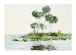"""Winslow Homer Fine Art Open Edition Giclée:""""St. Johns River, Florida"""""""