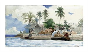 "Winslow Homer Fine Art Open Edition Giclée:""Sponge Fishermen, Bahamas"""