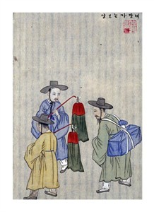 """Kim Junkeun Fine Art Open Edition Giclée:""""Wine Merchants"""""""