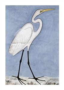 "Lucknow School Fine Art Open Edition Giclée:""Great Egret"""