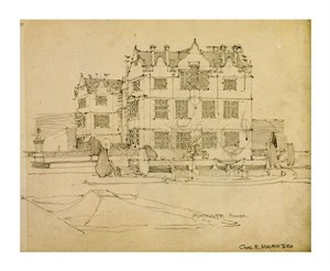 "Charles Rennie Mackintosh Fine Art Open Edition Giclée:""Somerset, Montacute House, 1895"""