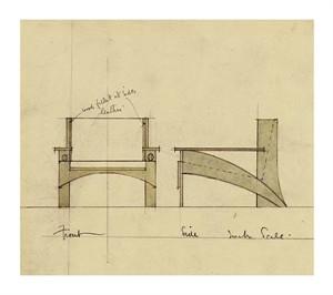 "Charles Rennie Mackintosh Fine Art Open Edition Giclée:""Design for Armchair in Oak"""